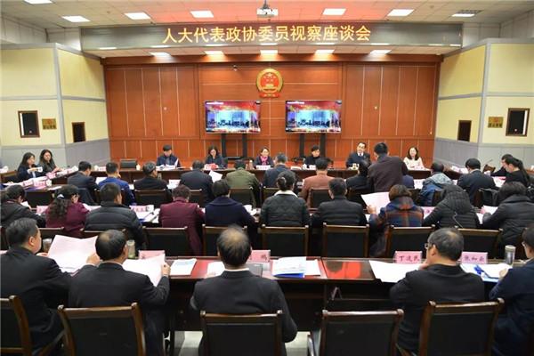 河南省法院史小红副院长到南阳与代表委员座谈