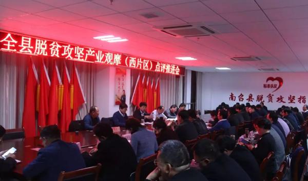 南召县开展脱贫攻坚产业观摩活动