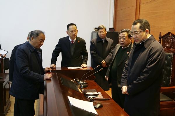 南阳中院秦德平院长到邓州市法院调研指导工作