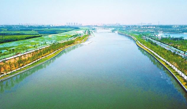 """河南省实施""""四水同治"""" 垃圾河变身景观河"""