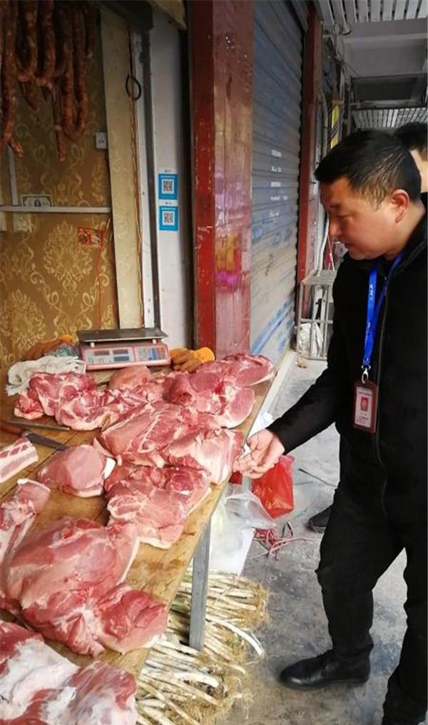 周口市公安局七一路分局侦破一起涉嫌非法经营生猪肉案