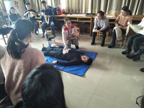 中共郑州市人才交流服务中心流动人员党委救护员培训工作顺利结束