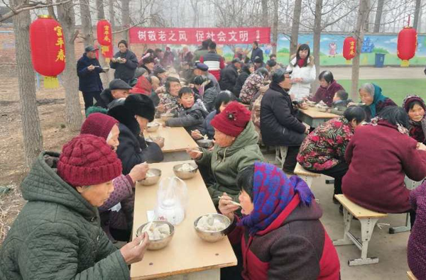 郏县冢头镇:饺子宴 聚民心 筑同心