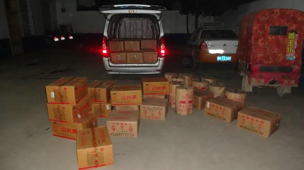 邓州都司派出所成功查获一起非法运输、销售烟花爆竹案件