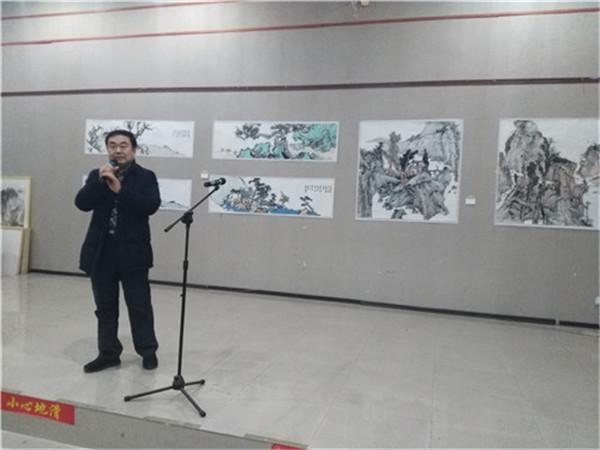 穆如清风——唐文国山水画展在河南大观美术馆开幕