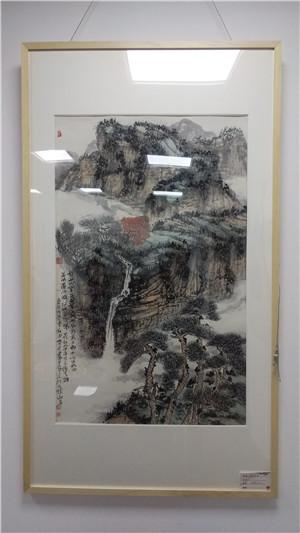 中原青年精英系列展——魏贺君曹剑丞山水画展在郑举行