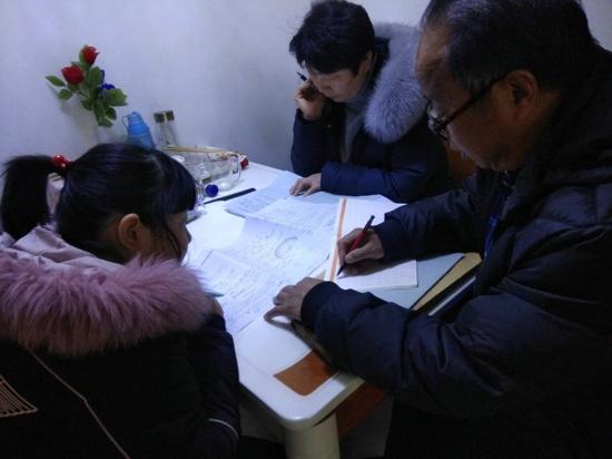 """郑州市五龙口小学开展""""课内比教学,课外访小家""""寒假家访活动"""