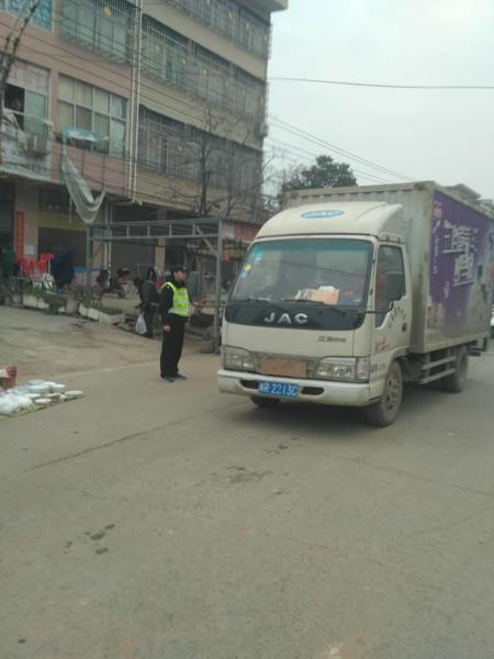 邓州林扒派出所开展道路安全隐患排查