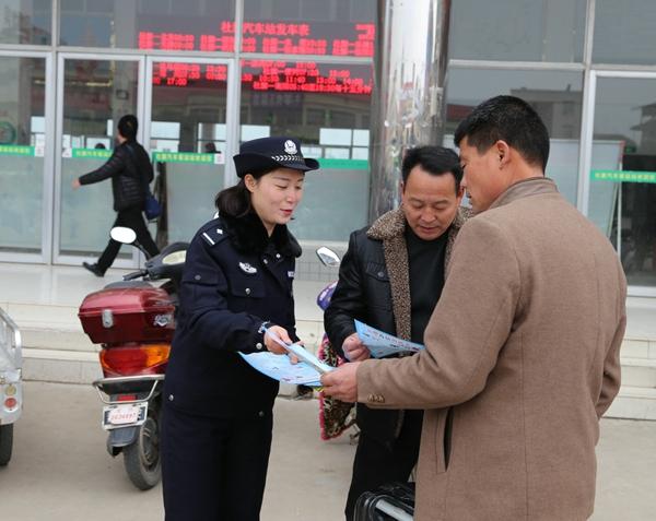 社旗县公安局积极开展岁末年初禁毒宣传活动