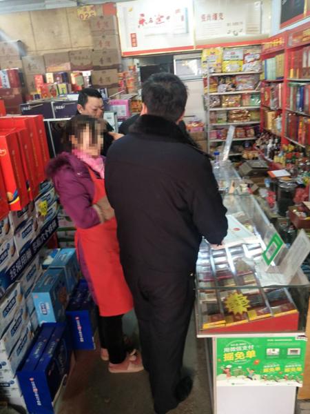邓州汲滩派出所开展烟花爆竹安全检查及宣传工作