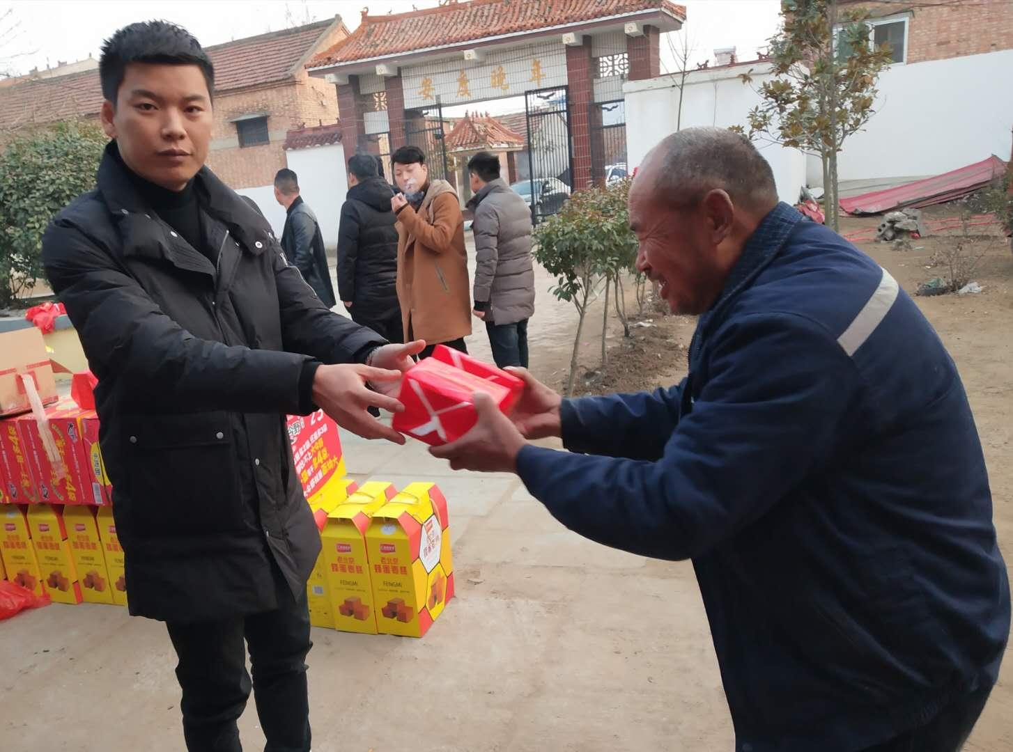 宁陵逻岗镇:宁波聚龙人力资源有限公司走访慰问敬老院