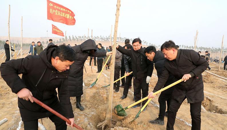 商丘提速国土绿化行动 节后首日再掀造林新高潮