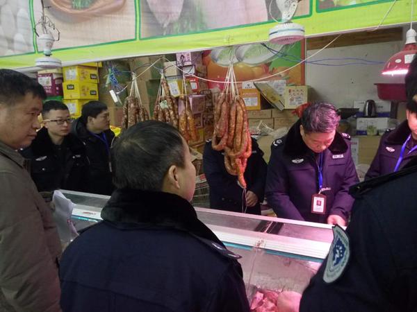 邓州:高集派出所联合多部门开展元宵节前食品安全检查活动