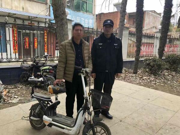 邓州:电动车被盗未报案 民警全力找寻失主