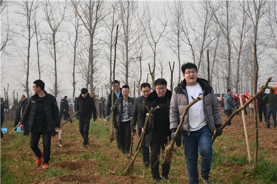 唐河县法院积极开展义务植树活动