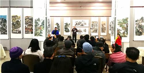 江山如画——河南省首届山水画作品展在河南大观美术馆举行