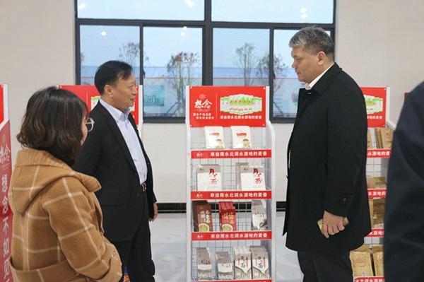 中原银行南阳分行行长霍振峰拜访想念食品股份有限公司总经理孙君庚