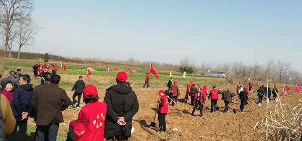 邓州:湍河派出所组织民警积极参加植树节活动