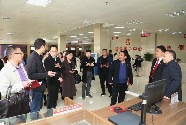 邓州法院到唐河法院交流学习信息化建设先进经验