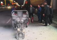 滚滚浓烟!三轮车突然自燃 洛阳新安巡警及时处置化险为夷
