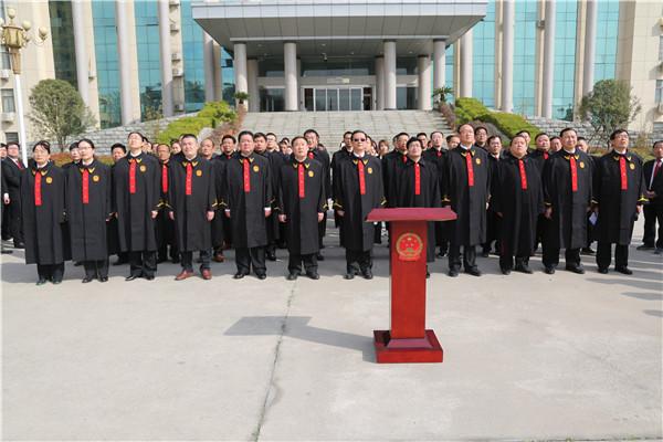 镇平县法院举行员额法官、新任命人民陪审员宪法宣誓仪式