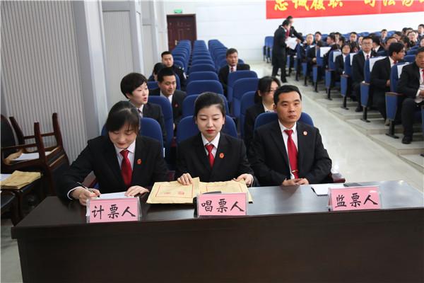 镇平县法院机关党委召开换届选举大会