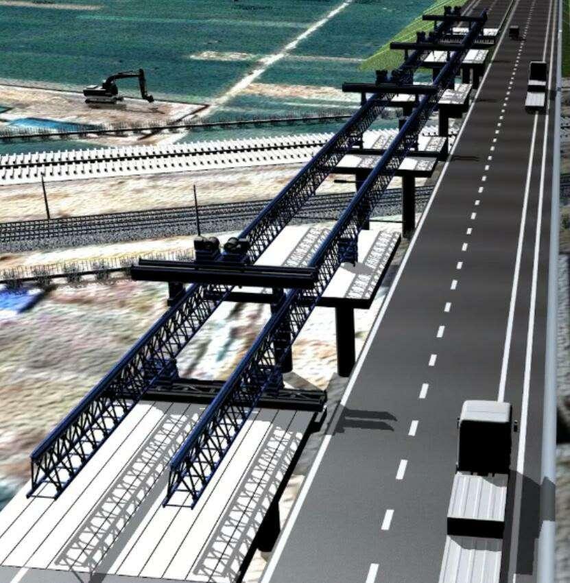 """飞跨""""两铁""""克艰险   科技创新展新颜 连霍高速改扩建工程商丘立交桥进入""""快车道"""""""