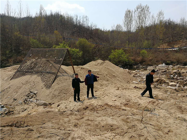 内乡县公安局强力推进打击非法采砂工作