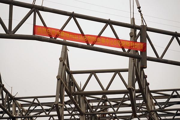 探访驻马店国际会展中心在建项目 钢结构主体全面封顶