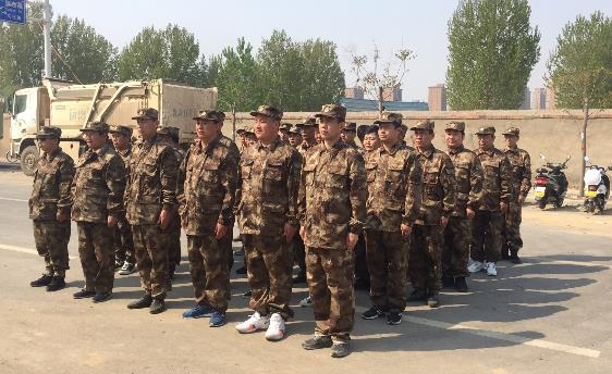 郑州市国基巡防开展春夏大练兵运动