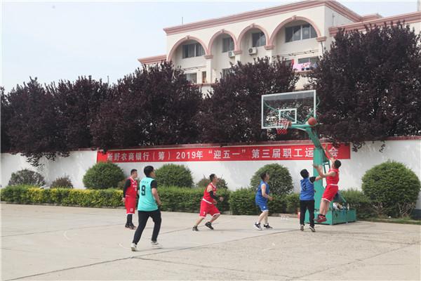 """新野农信联社举办迎""""五一""""第三届职工运动会"""